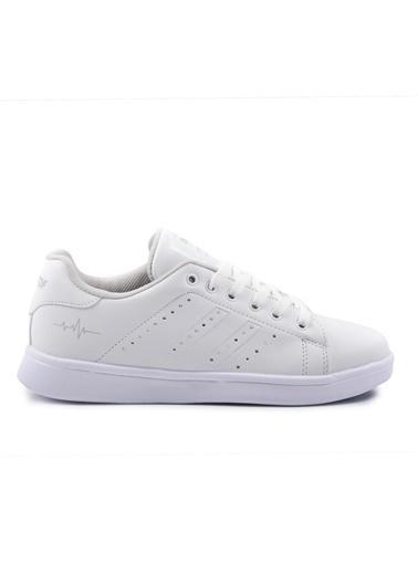 Bestof Walkway 041 Beyaz-Beyaz Kadın Spor Ayakkabı Beyaz